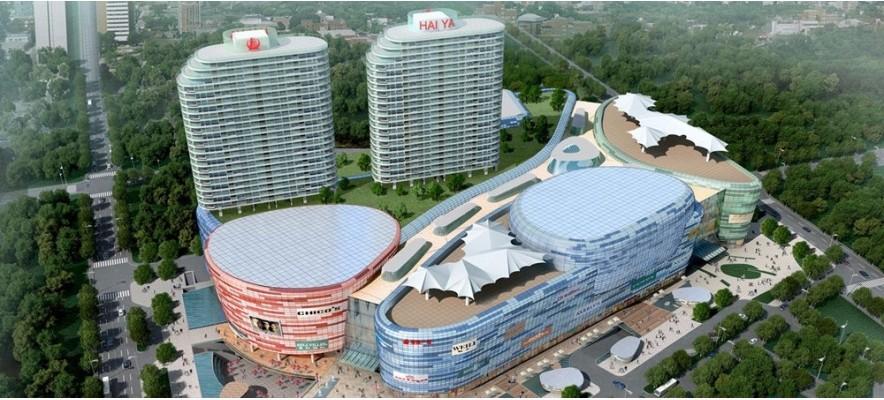 深圳海雅缤纷城44.8万风量静电油烟净化器安装案例